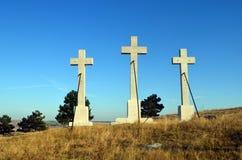 Three crosses Stock Photos