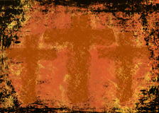 Three crosses on a Grunge background Stock Photography