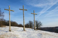 Three Crosses Hill in Kazimierz Dolny Royalty Free Stock Photo