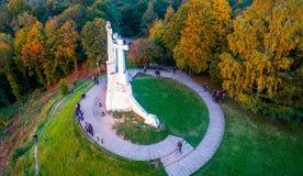 Three crosses hill in Vilnius stock photo