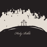 Three crosses and inscriptions holy bible Stock Images