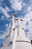Three Crosses Monument. On the Bleak Hill in Vilnius, Lithuania Royalty Free Stock Images