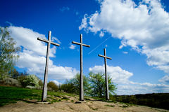 Three crosses mountain Kazimierz Stock Photography