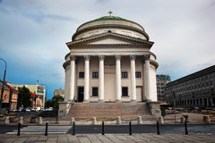 Three Crosses Square in Warsaw, Poland Stock Images