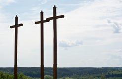 Three crosses Royalty Free Stock Image
