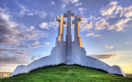 Three crosses vilnius. Three croses on the hill in Vilnius hdr Stock Images
