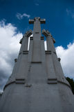 Three crosses in Vilnius Stock Images