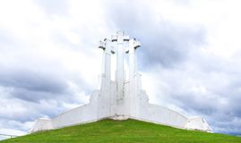 Three Crosses in Vilnius, Lithuania. stock photography