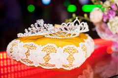 Three crown for the winner of beauty contest Royalty Free Stock Images