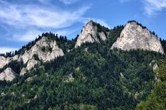 Three Crowns peak in Pieniny Mountains Royalty Free Stock Photo