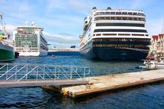 Three cruise ships Stock Photo