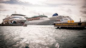 Three cruises Royalty Free Stock Images