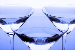 Three crystal glasses Royalty Free Stock Photos