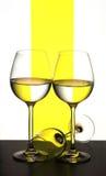 Three crystal glasses Royalty Free Stock Image