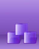 Three cubes purple Royalty Free Stock Images