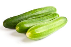 Three cucumber Royalty Free Stock Photography