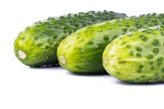 Three cucumber Stock Photo
