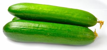Three cucumber from the side Royalty Free Stock Photography