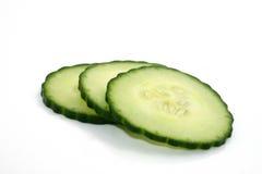 Three Cucumber Slices Royalty Free Stock Photo