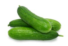Three cucumbers Royalty Free Stock Images