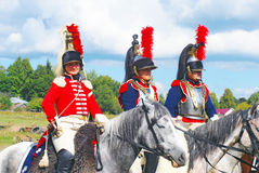Three cuirassiers Royalty Free Stock Photo
