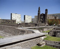 Three culture square. Known as Plaza de las Tres Culturas in spanish Royalty Free Stock Images