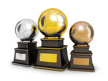 Three cup football Royalty Free Stock Images