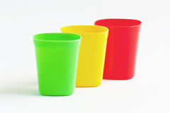 Three cup three color. Royalty Free Stock Photo