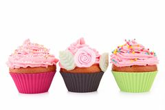 Three cupcake Royalty Free Stock Photo
