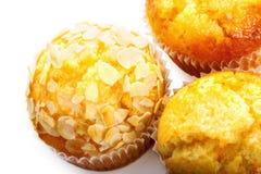 Three cupcake closeup Royalty Free Stock Photo