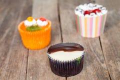 Three cupcake Royalty Free Stock Photos