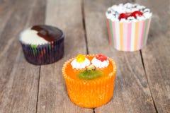 Three cupcake Stock Photos