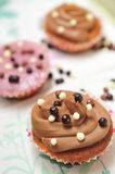 Three cupcakes Royalty Free Stock Photography