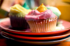 Three Cupcakes. Easter Cupcake royalty free stock photo