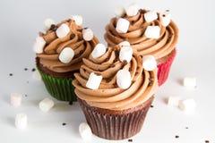 Three Cupcakes Stock Photo