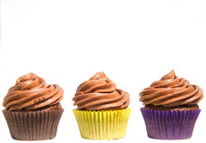 Three Cupcakes Royalty Free Stock Photo