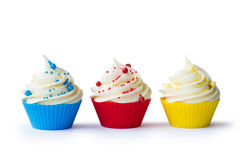 Three cupcakes Stock Image