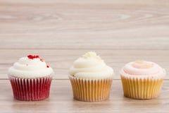 Three  cupcakes Royalty Free Stock Image
