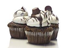 Three cupcakes on white Stock Photo
