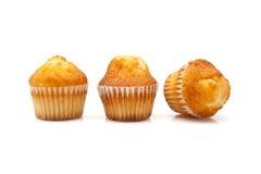 Three cupcakes. On white background Stock Photo