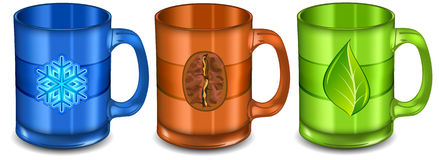 Three cups Royalty Free Stock Photography