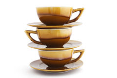 Three cups Royalty Free Stock Photo