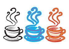 Three cups Royalty Free Stock Photos