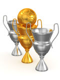 Three Cups with ball Royalty Free Stock Image