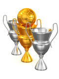 Three Cups with ball Stock Photo