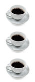 Three cups of coffee Royalty Free Stock Photography