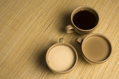 Three cups of coffee Royalty Free Stock Images