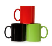 Three cups Stock Photos