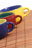 Three cups d. Three cups in perspective Stock Image