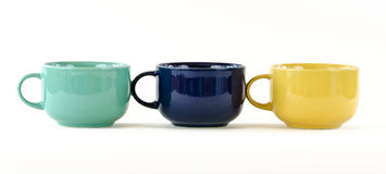 Three cups with handles Stock Image